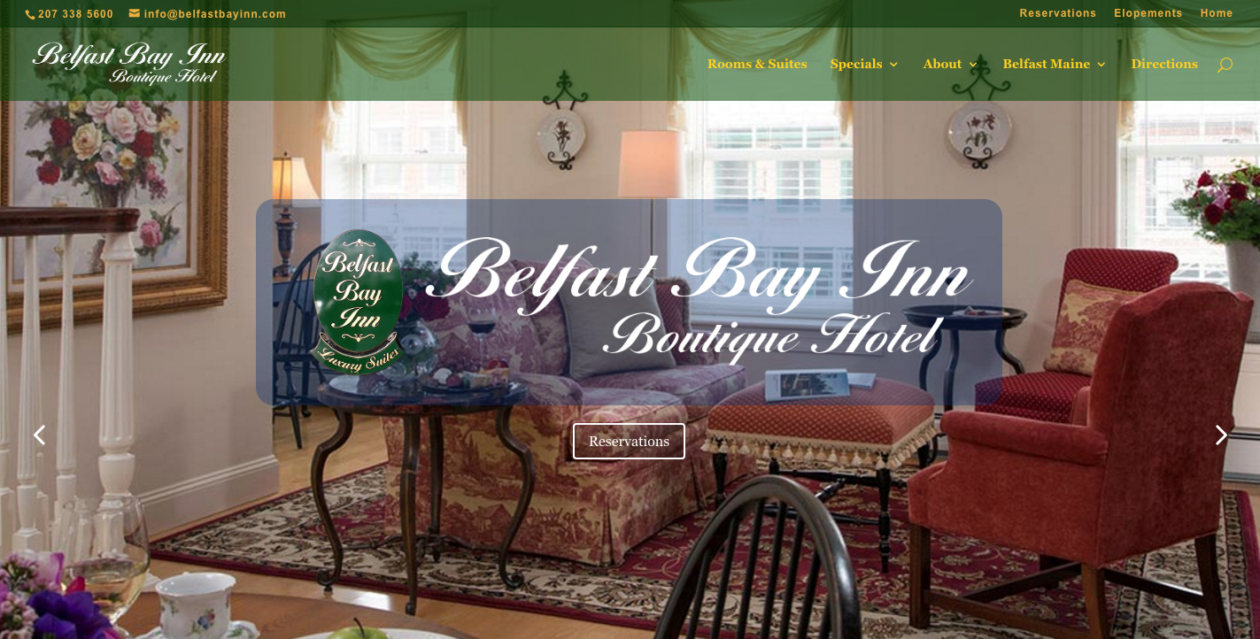 Website Design for Boutique Hotel